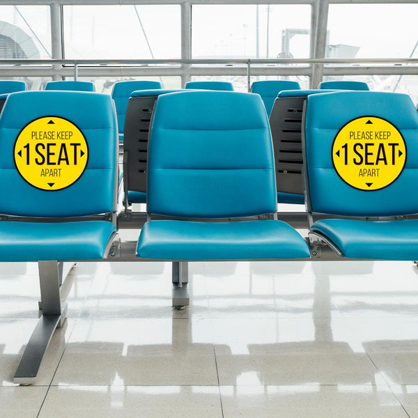 Please Keep 1 Seat Apart Chair Decal