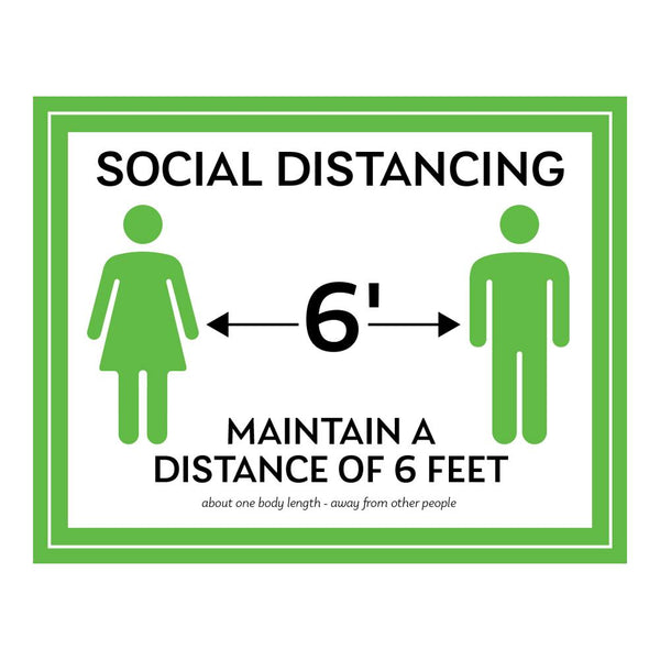 Maintain A Distance Of Six Feet Decal