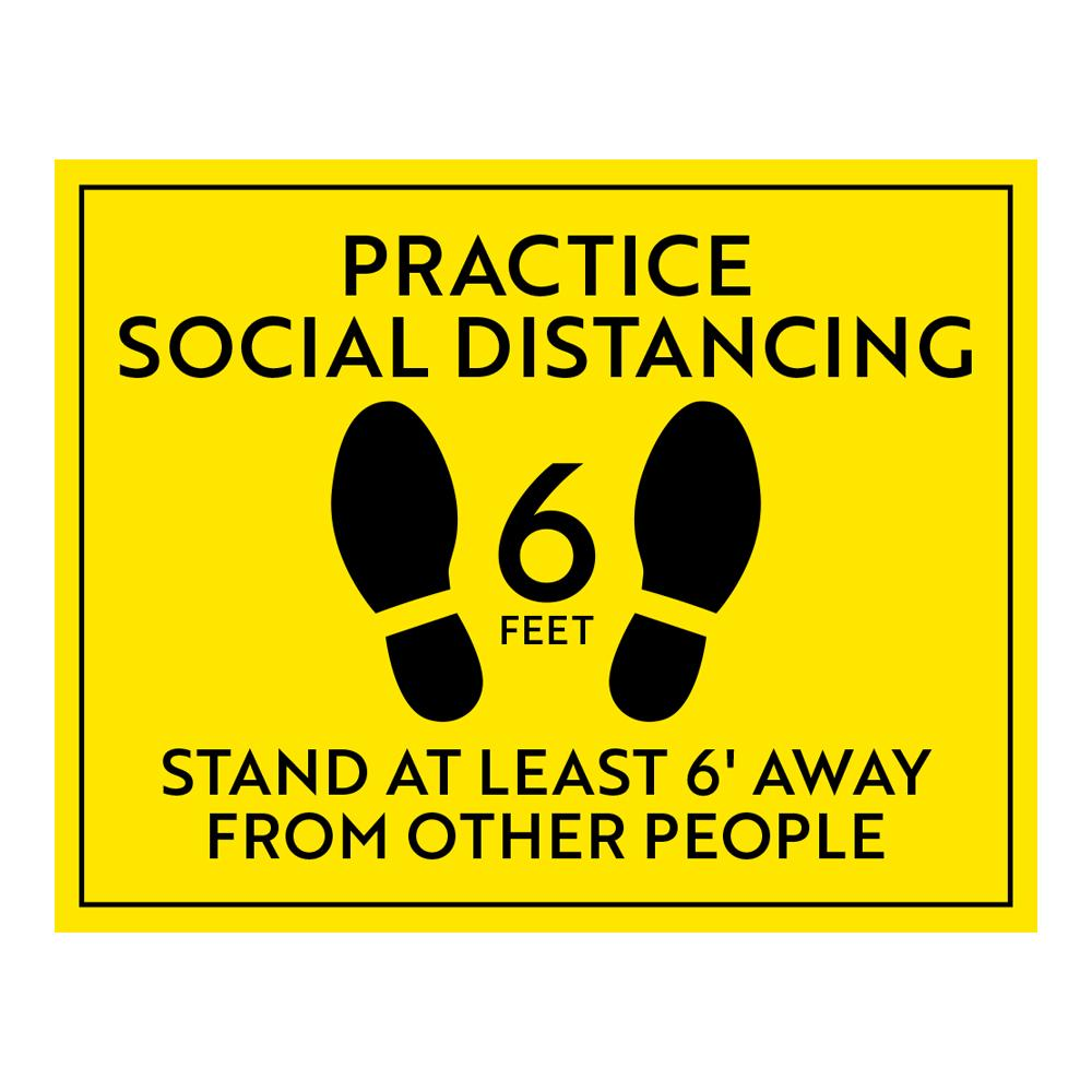 Practice Social Distancing Decal