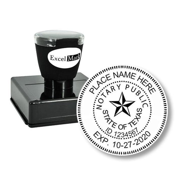 Round Pre-Inked Texas Notary Stamp