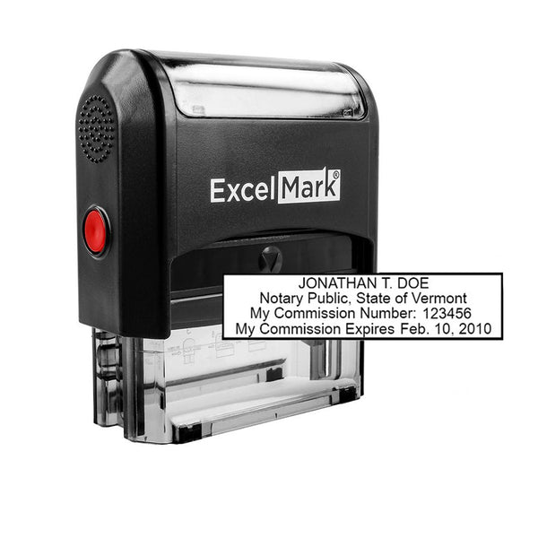 Self-Inking Vermont Notary Stamp