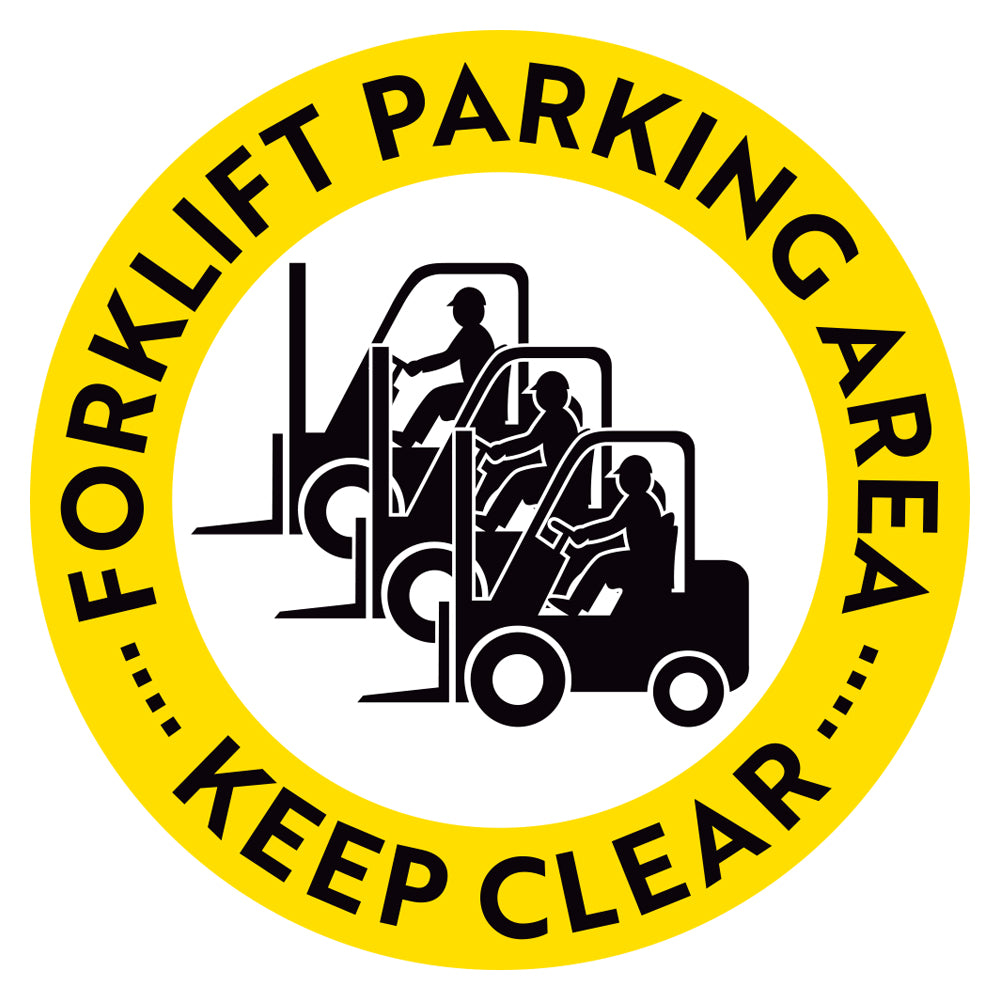 Forklift Parking Area Keep Clear Floor Decal