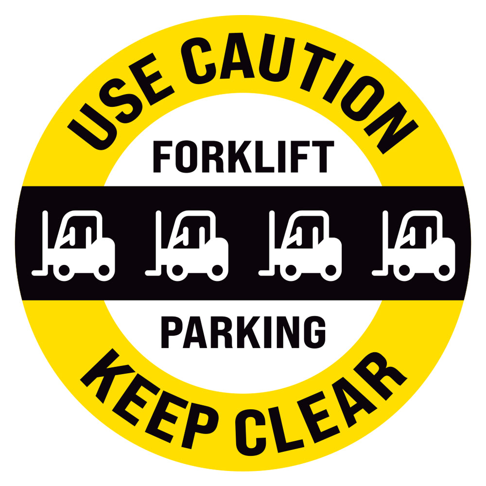 Use Caution Forklift Parking Floor Decal