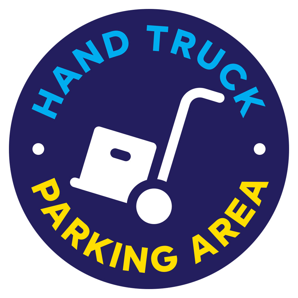 Hand Truck Parking Area Floor Decal