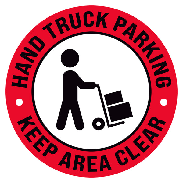 Hand Truck Parking Keep Area Clear Floor Decal