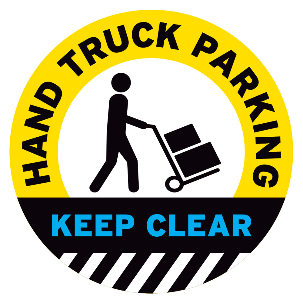Hand Truck Parking Keep Clear Floor Decal