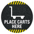 Place Carts Here Floor Decal