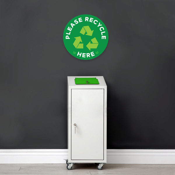 Please Recycle Here Floor Decal