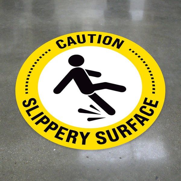 Caution Slippery Surface Floor Decal