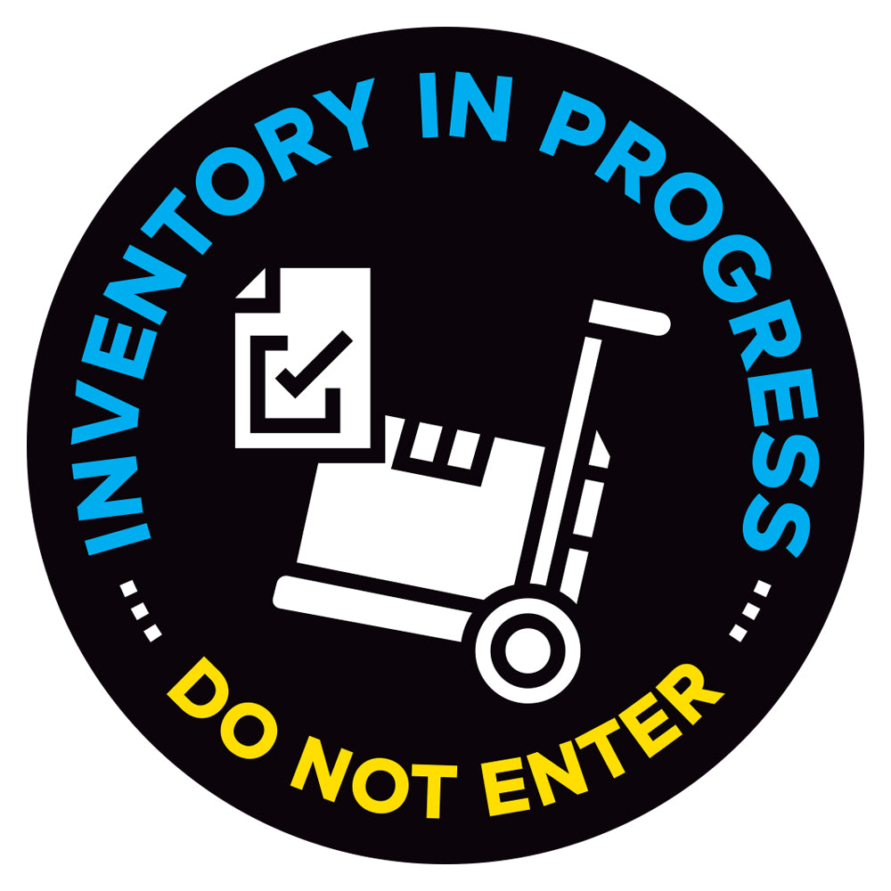 Inventory In Progress Do Not Enter Floor Decal