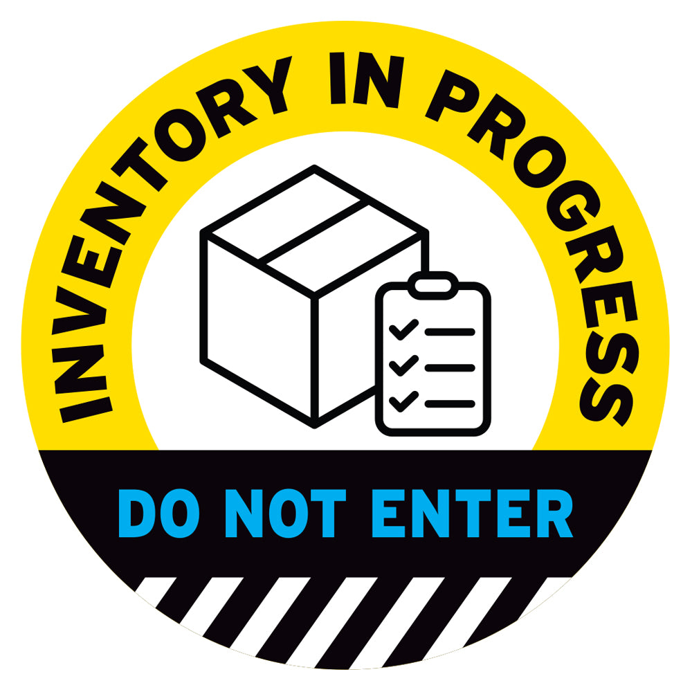 Yellow Inventory In Progress Do Not Enter Floor Decal