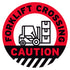 Forklift Crossing Floor Decal