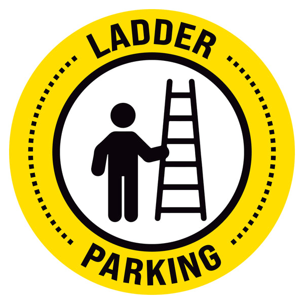 Yellow Ladder Parking Floor Decal