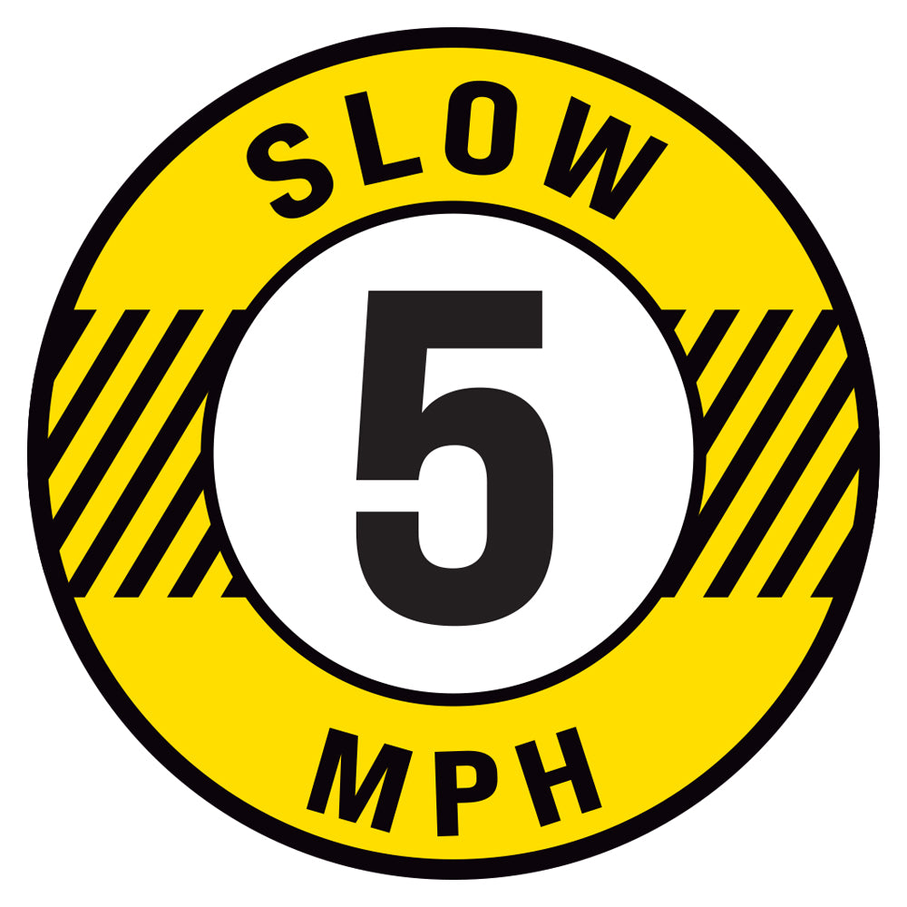 Slow 5 MPH Floor Decal