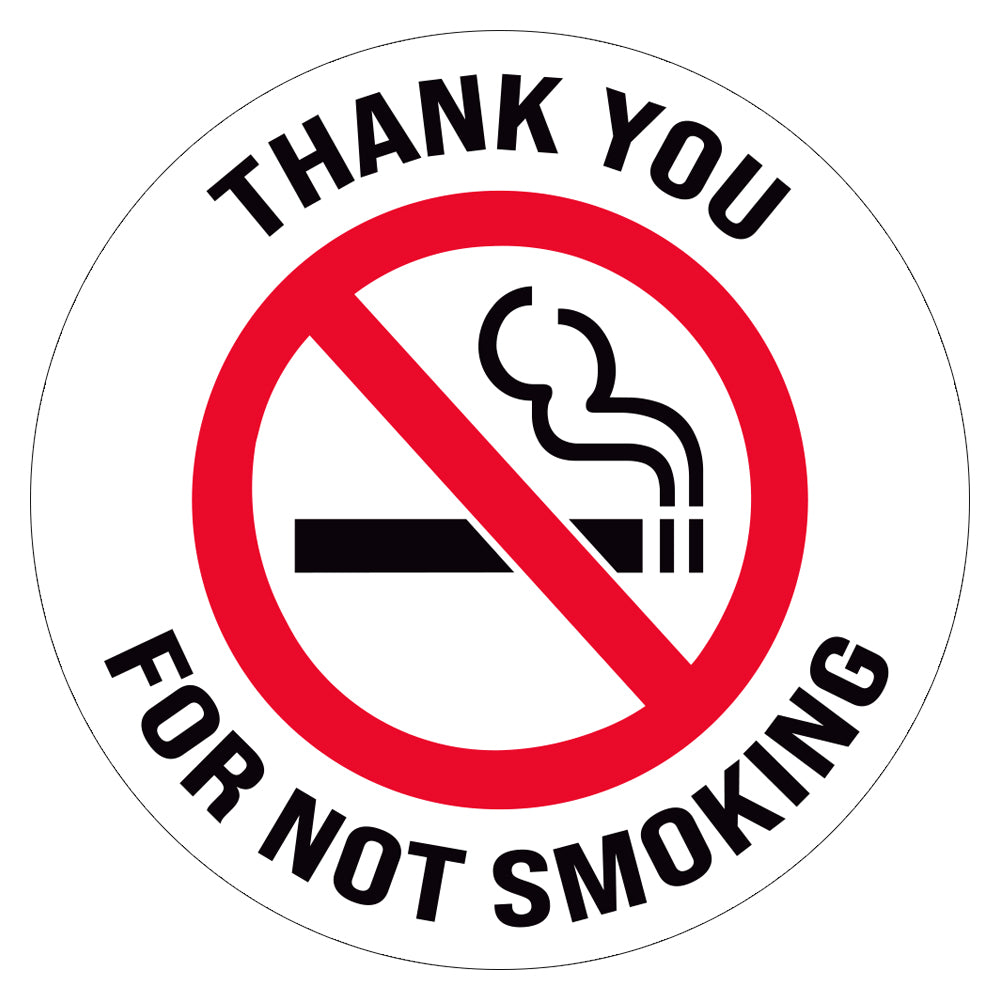 Thank You For Not Smoking Floor Decal