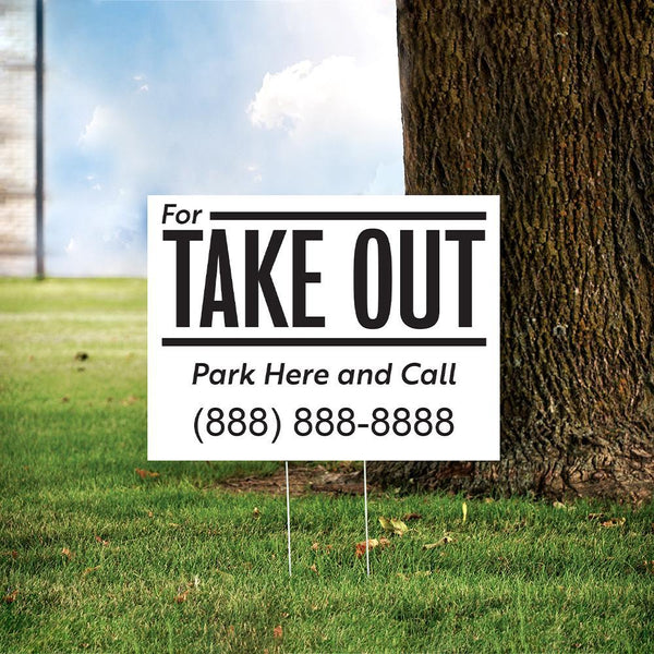 "24"" x 18"" Custom Take Out Yard Sign"