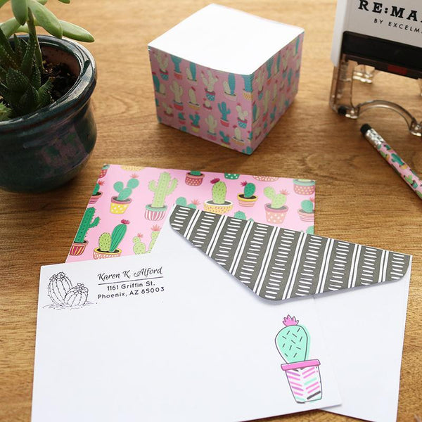 Cactus 2 Address Stamp