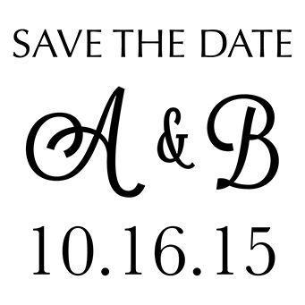 Save The Date Monogram Design Stamp