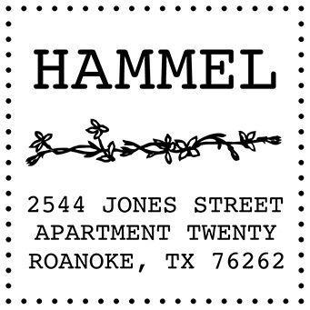 Floral Vine Address Stamp
