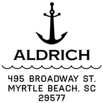 Anchor Address Stamp