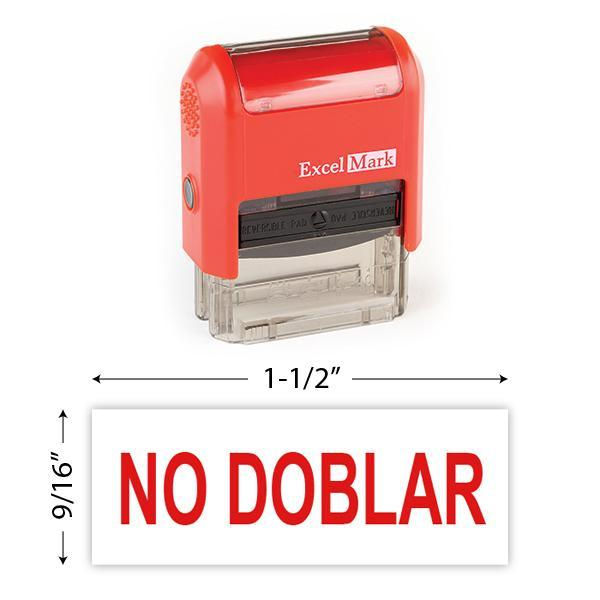 No Doblar Stamp