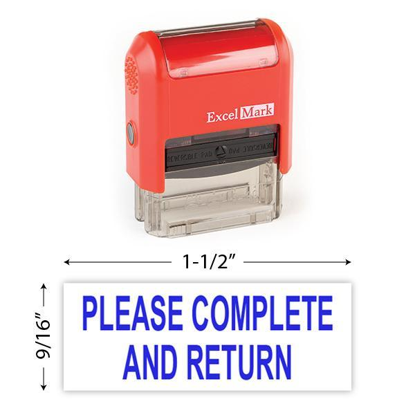 Please Complete And Return