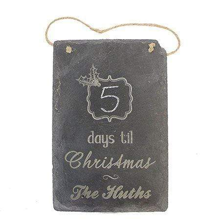 Slate Boards Christmas Countdown Engraved Slate Sign