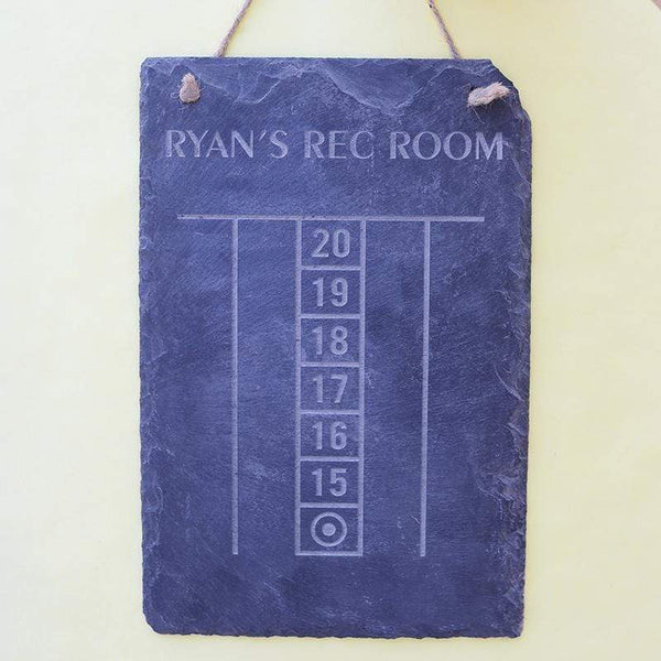 Slate Boards Darts Scoreboard Engraved Slate Sign
