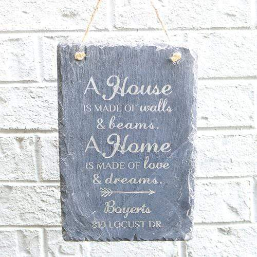Slate Boards House Address Engraved Slate Sign