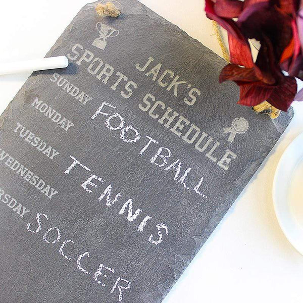 Slate Boards Sports Schedule Engraved Slate Sign