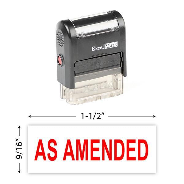 As Amended Stamp