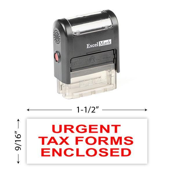 Urgent Tax Forms Enclosed Stamp
