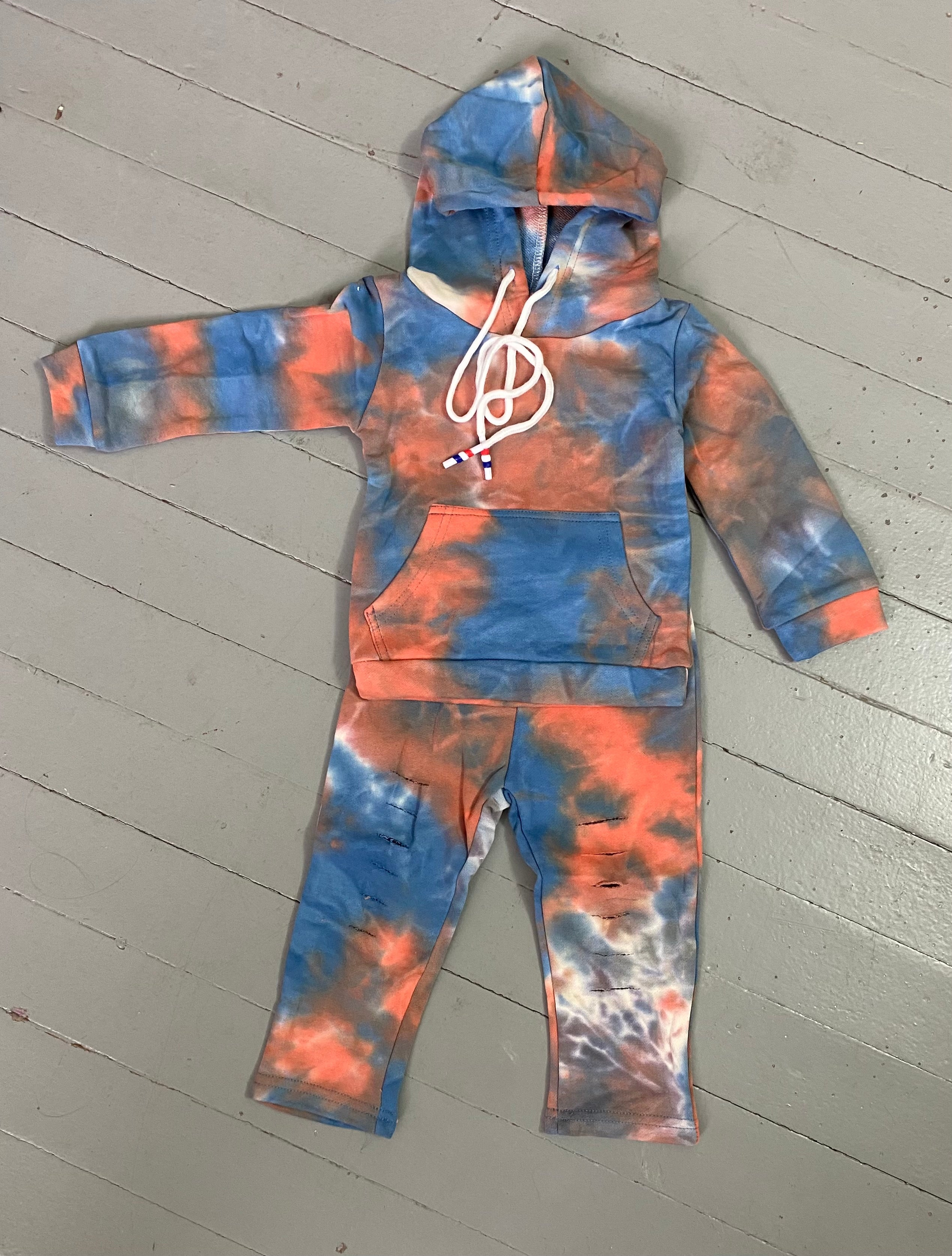 Tie dye sweat suit