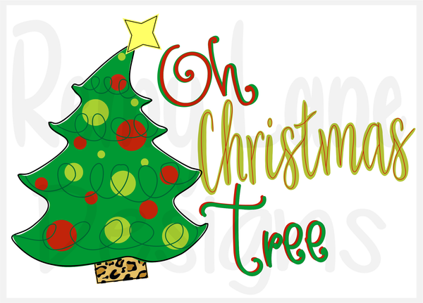 Oh Christmas Tree Red And Green Remy Lane Designs