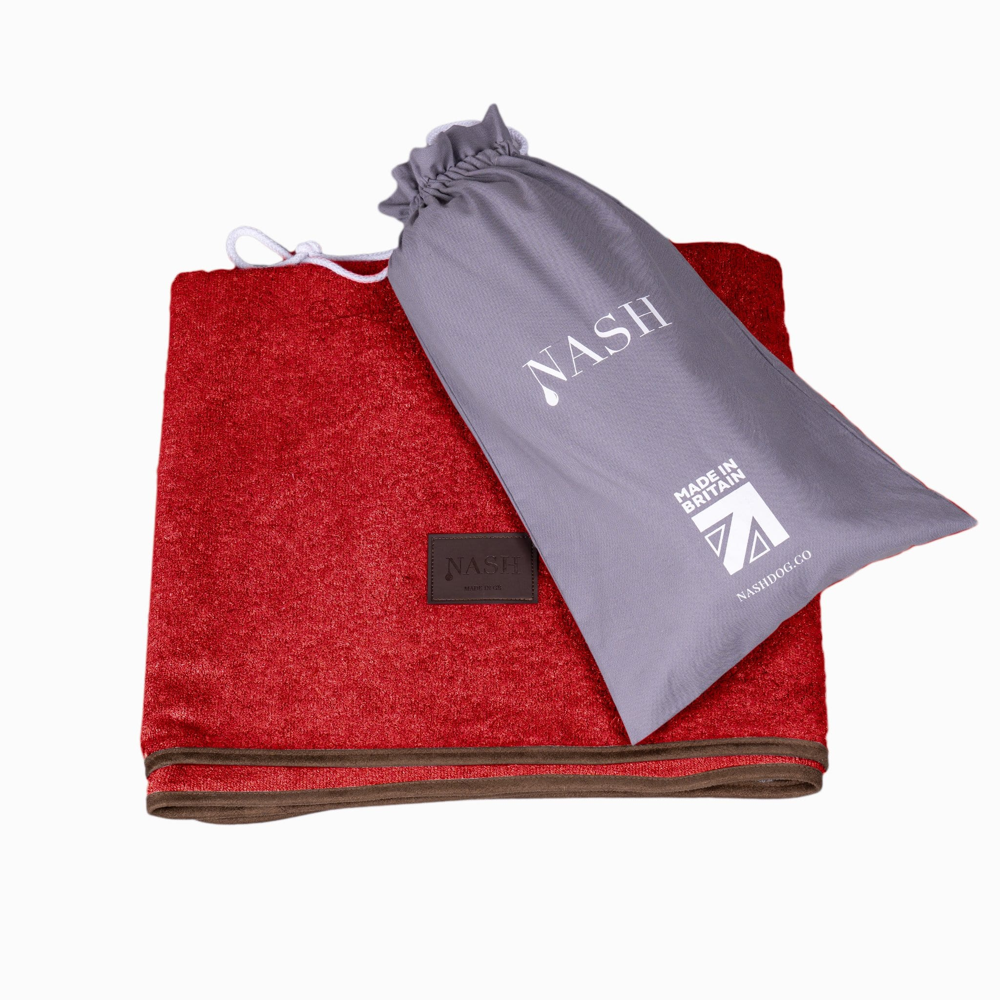 Bamboo Throw - Red - Shop Bamboo Dog Drying Coats, bed covers, drying mitts & throw Online!