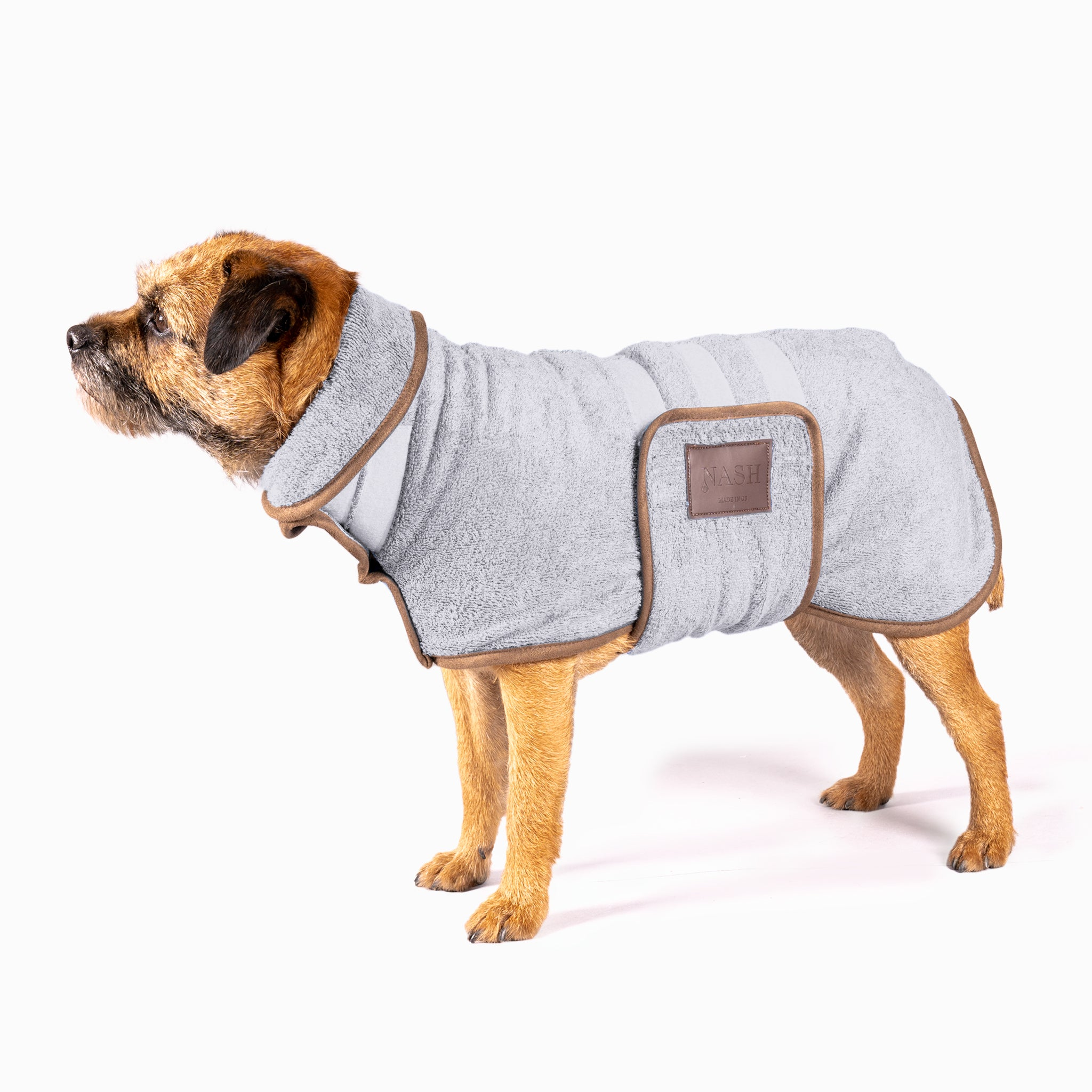 Bamboo Drying Coat - Grey - Shop Bamboo Dog Drying Coats, bed covers, drying mitts & throw Online!