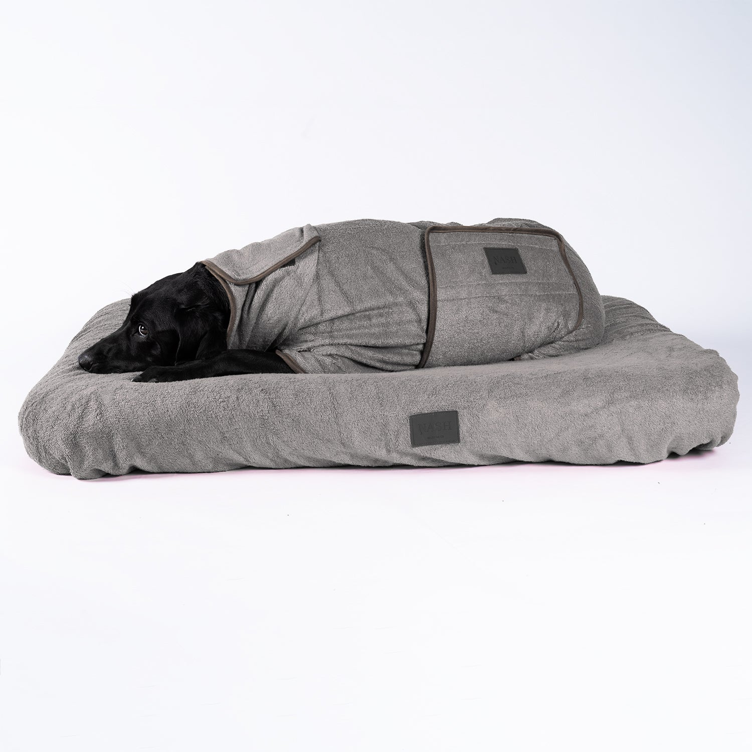 Bamboo Dog Bed Cover - Grey - Shop Bamboo Dog Drying Coats, bed covers, drying mitts & throw Online!