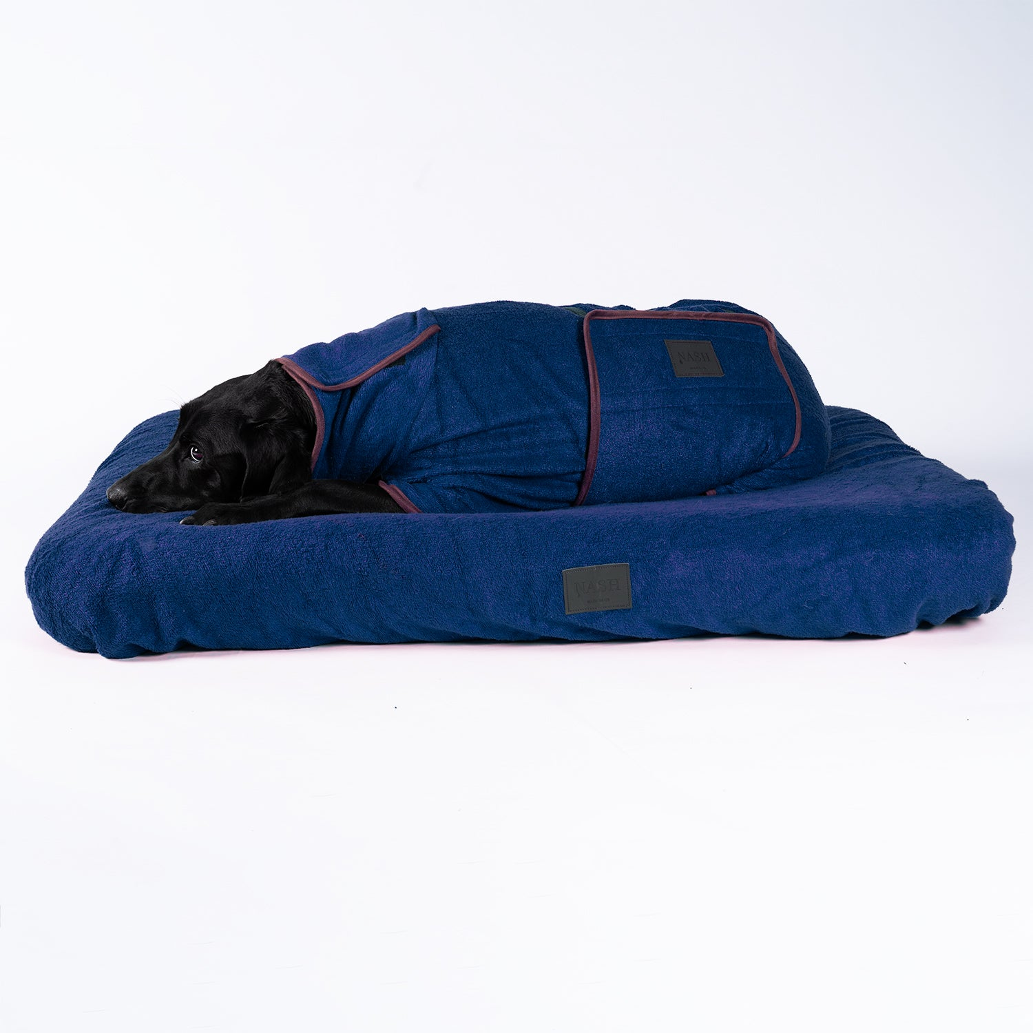 Bamboo Dog Bed Cover - Navy - Shop Bamboo Dog Drying Coats, bed covers, drying mitts & throw Online!