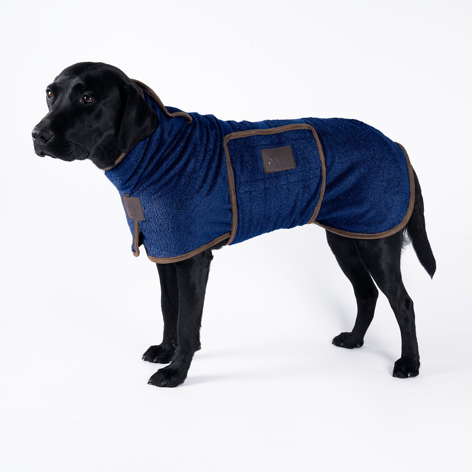 Bamboo Drying Coat - Navy - Shop Bamboo Dog Drying Coats, bed covers, drying mitts & throw Online!