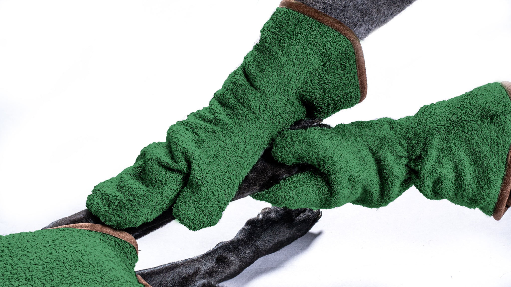 Bamboo Drying Mitts - Forest - Shop Bamboo Dog Drying Coats, bed covers, drying mitts & throw Online!