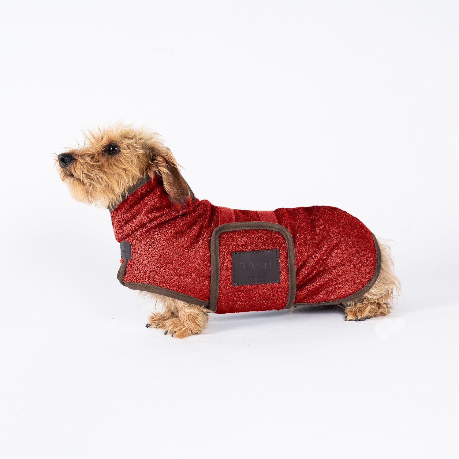Bamboo Drying Coat - Red - Shop Bamboo Dog Drying Coats, bed covers, drying mitts & throw Online!