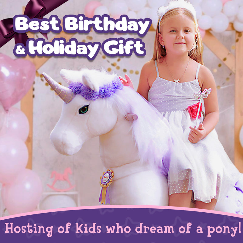PonyCycle K Purple Unicorn for Age 4-9
