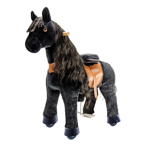 PonyCycle U Black with Long Hair Horse