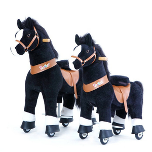 PonyCycle U Ride on Horse Black two sizes for options