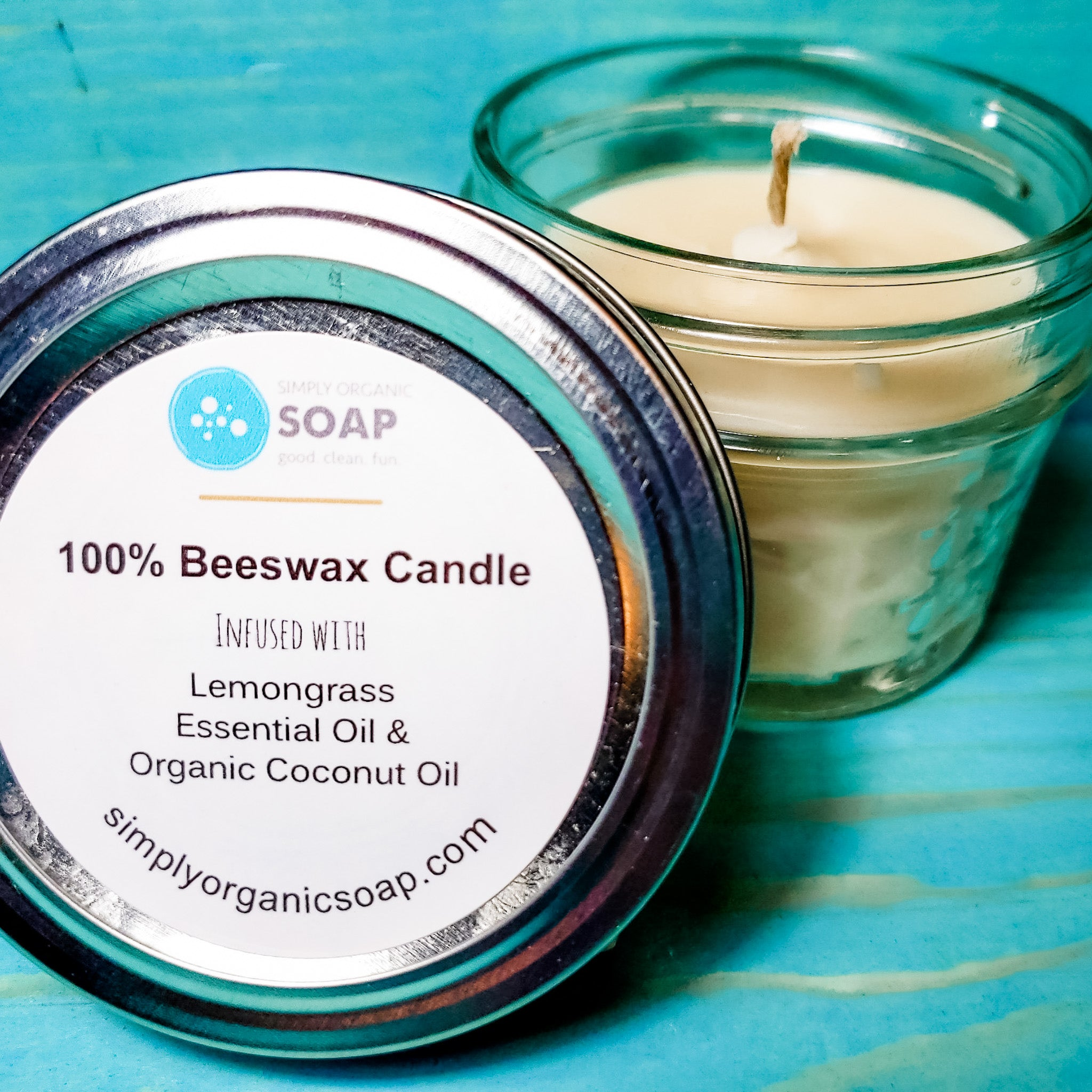 Mason Jar Beeswax Candle with essential oil