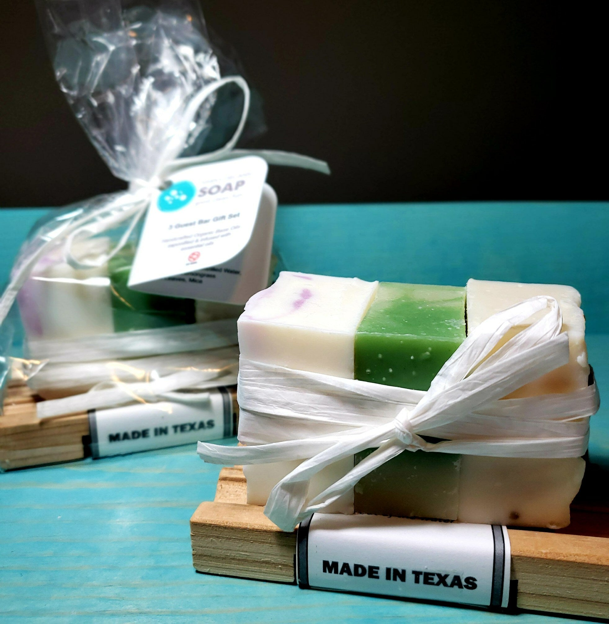 3 Guest Bar Sampler Set with Cedar Soap Dish