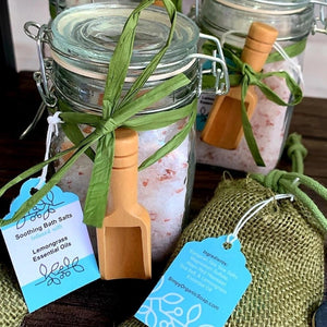 Soothing Bath Salts with  Lemongrass Essential Oil