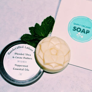 Lotion Bar with Peppermint Essential Oils