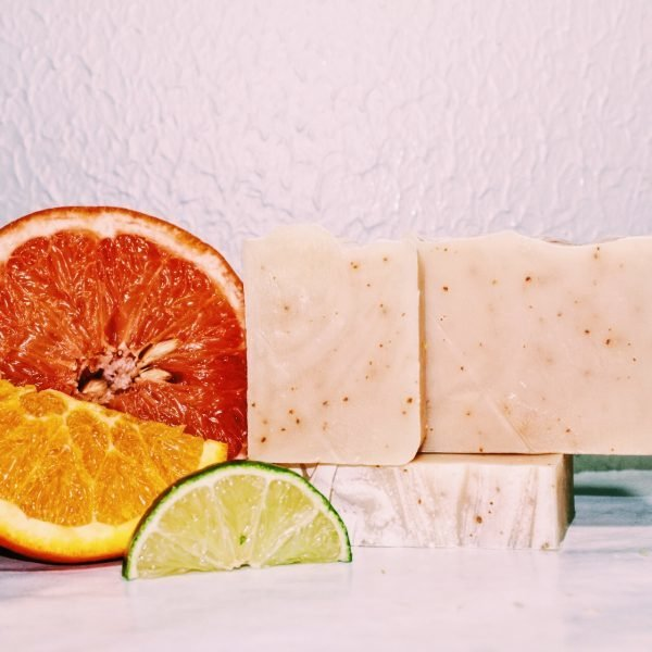 Organic Bar Soap with Orange, Lime & Grapefruit Essential Oils