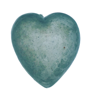 Heart Shaped Charcoal Soap with activated Charcoal
